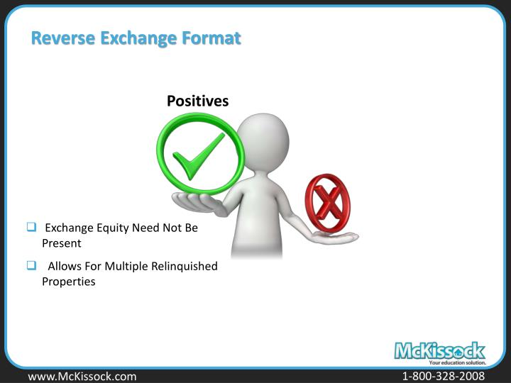 Reverse Exchange Format