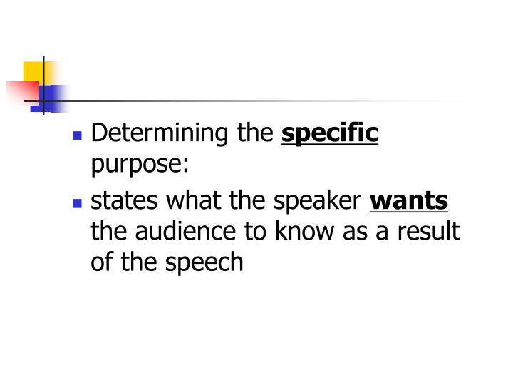 Determining the