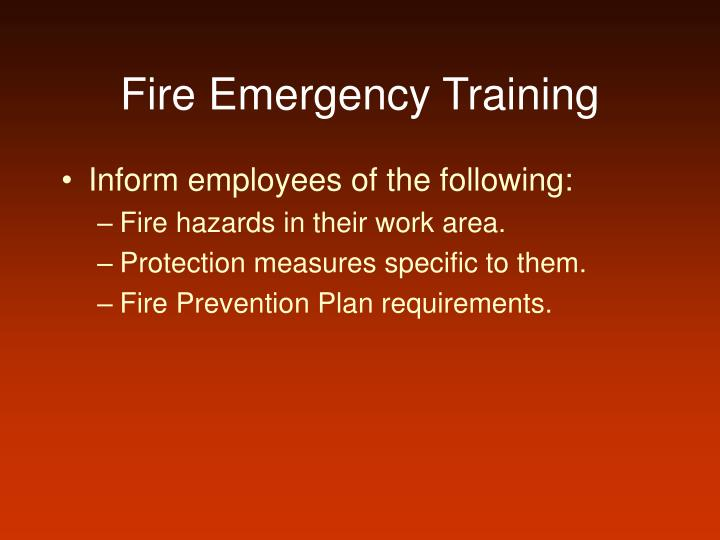 Fire Emergency Training