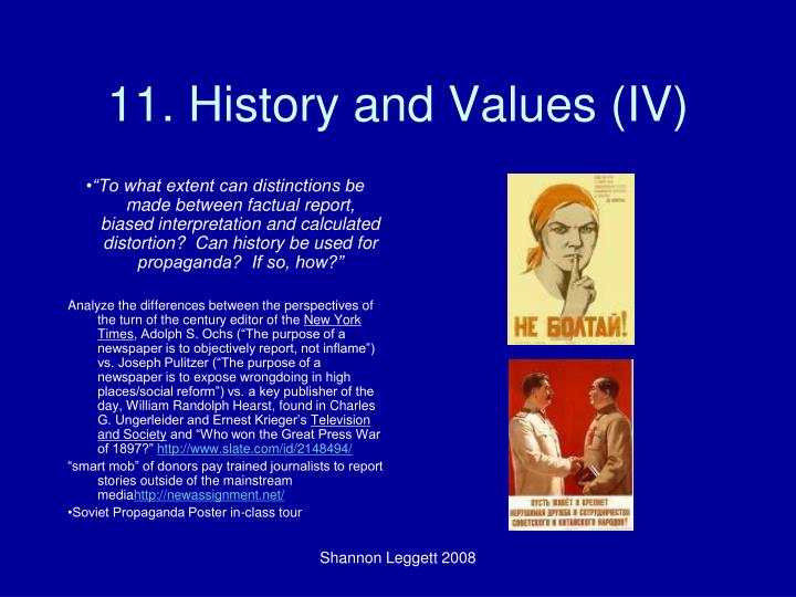 11. History and Values (IV)