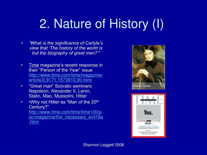 2. Nature of History (I)