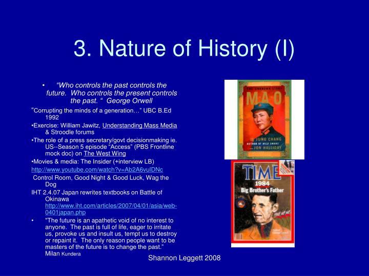 3. Nature of History (I)