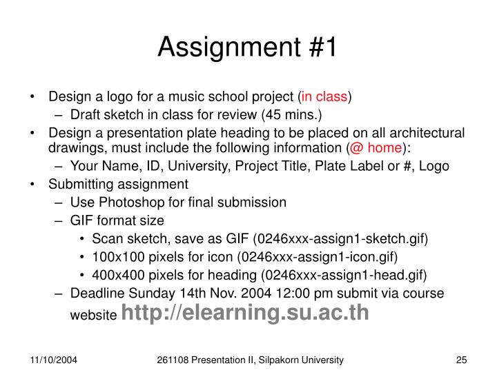 Assignment #1