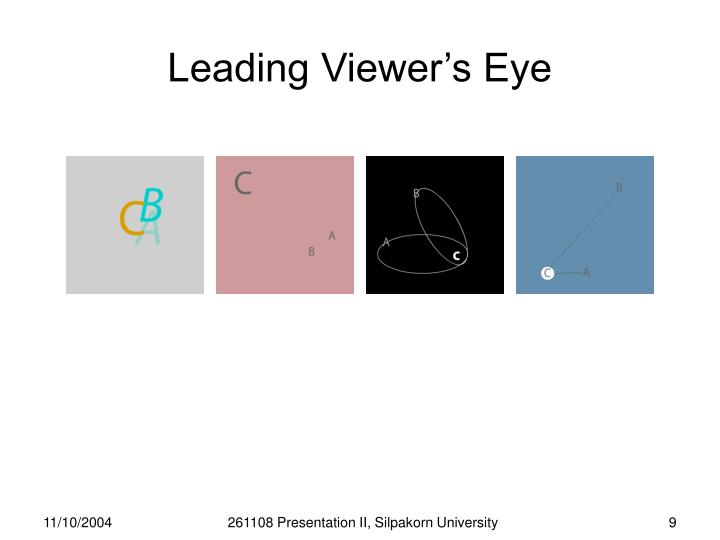 Leading Viewer's Eye