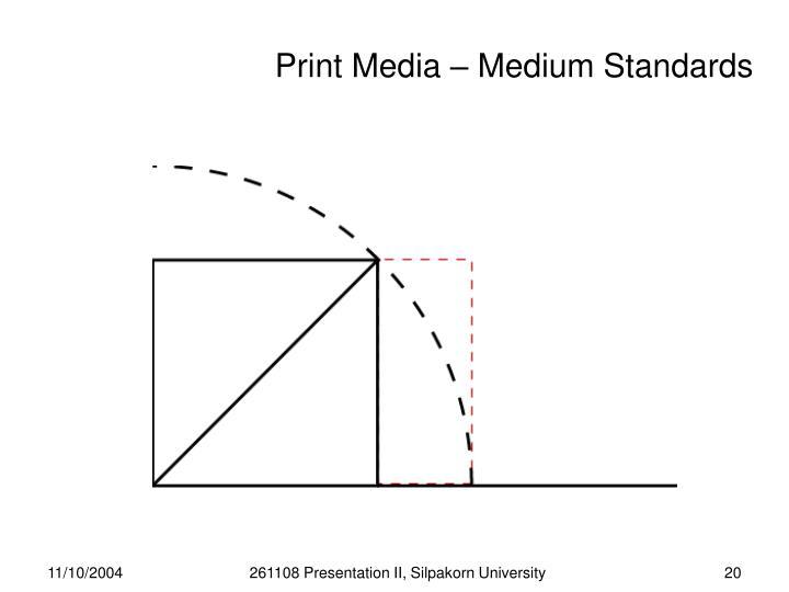 Print Media – Medium Standards