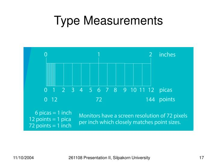 Type Measurements