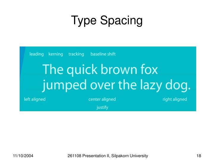 Type Spacing