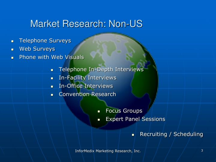 Market research non us