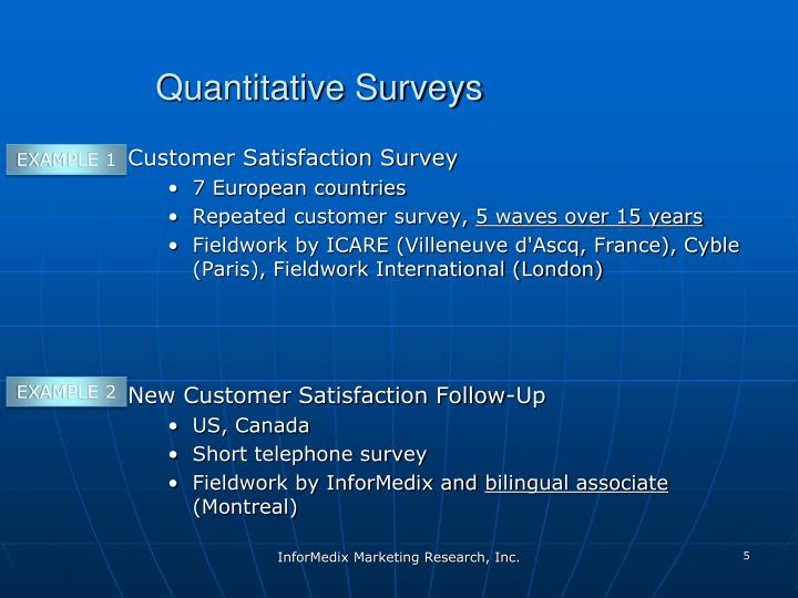 Quantitative Surveys