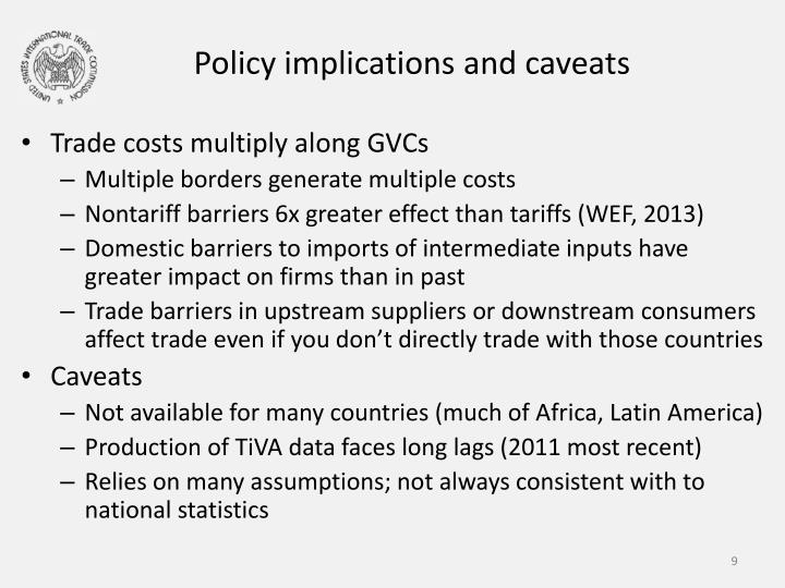 Policy implications and caveats