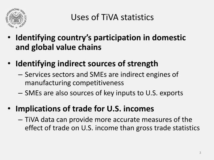 Uses of TiVA statistics