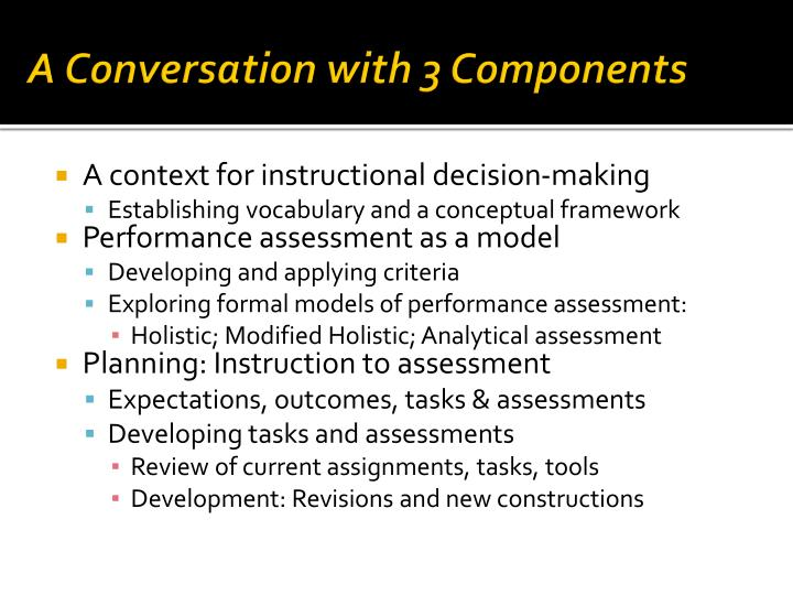A Conversation with 3 Components