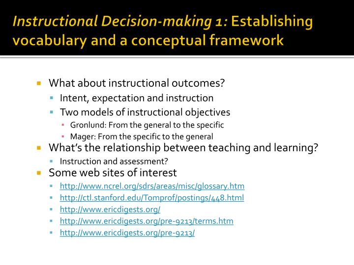 Instructional Decision-making 1: