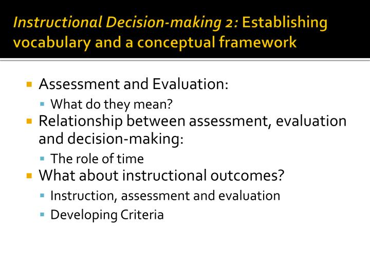 Instructional Decision-making 2:
