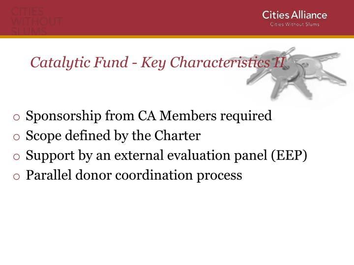 Catalytic Fund - Key
