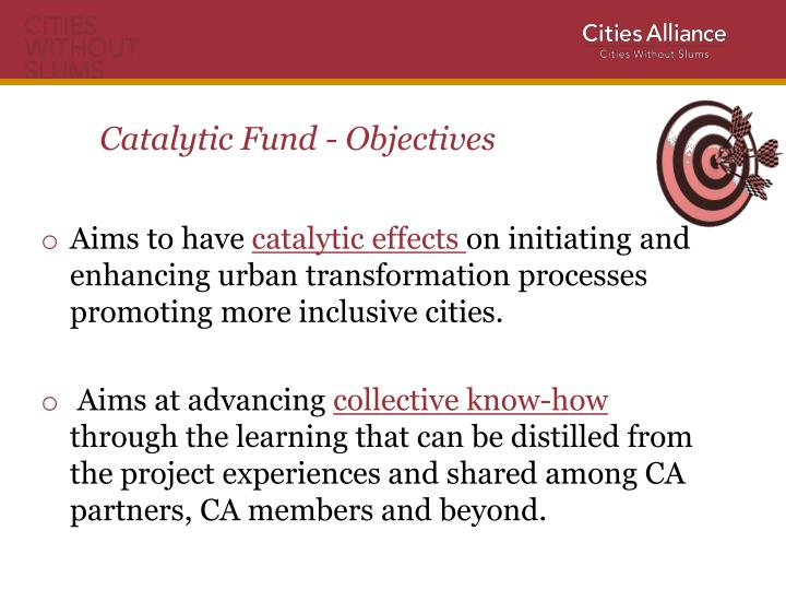 Catalytic Fund - Objectives