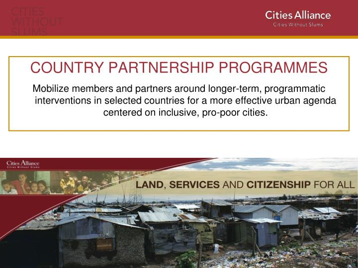 COUNTRY PARTNERSHIP PROGRAMMES