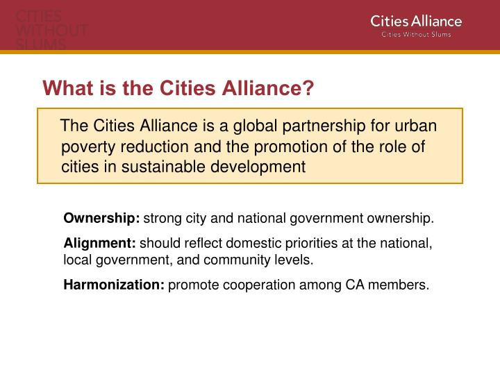What is the cities alliance
