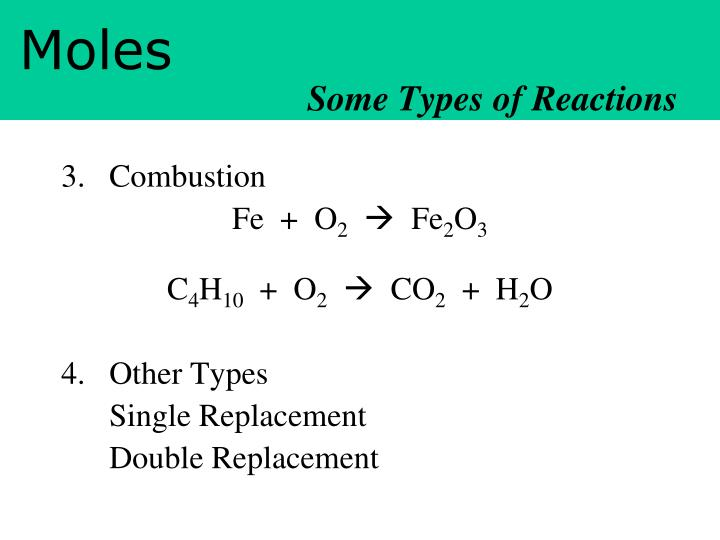 Some Types of Reactions