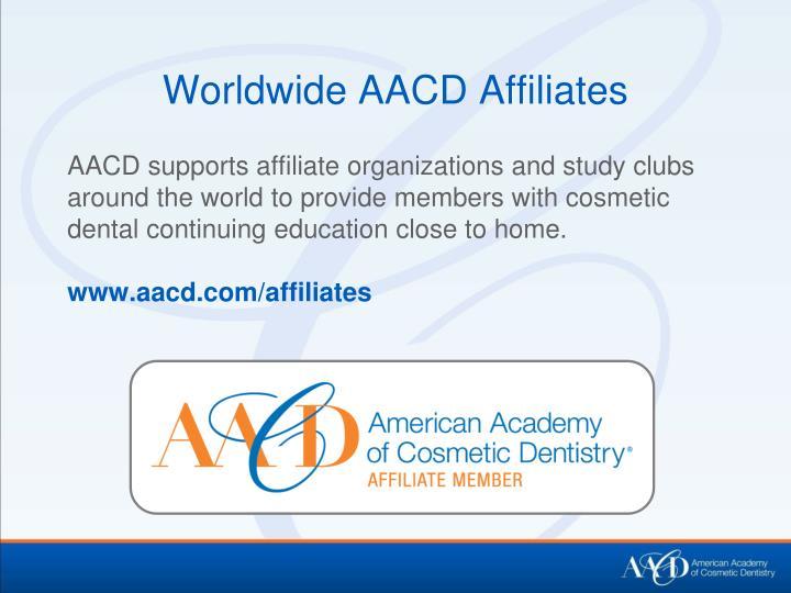 Worldwide AACD Affiliates