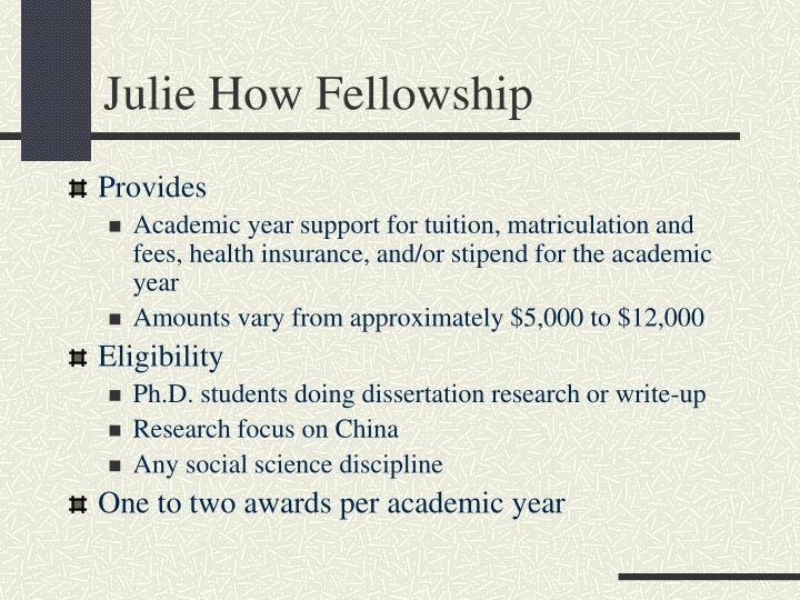 Julie How Fellowship