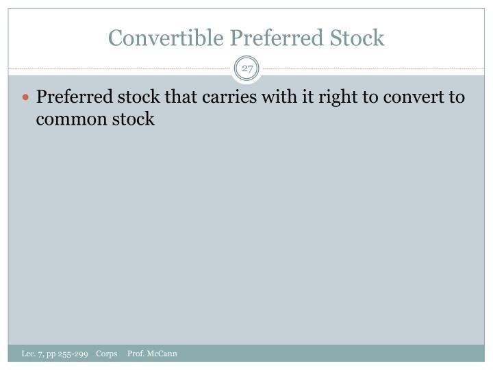 Convertible Preferred Stock