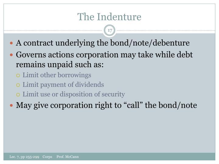 The Indenture