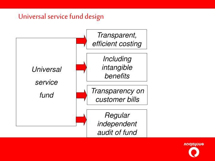 Universal service fund design