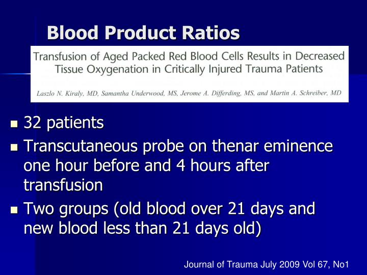 Blood Product Ratios