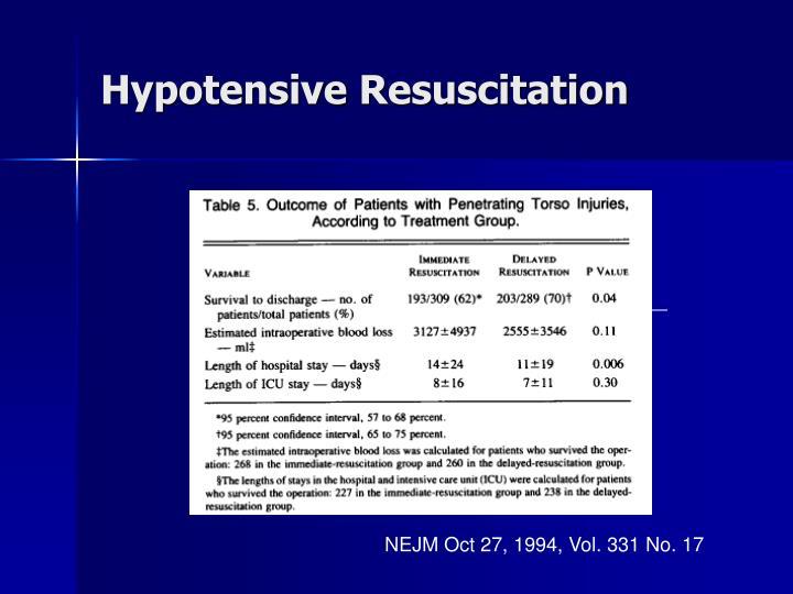 Hypotensive Resuscitation