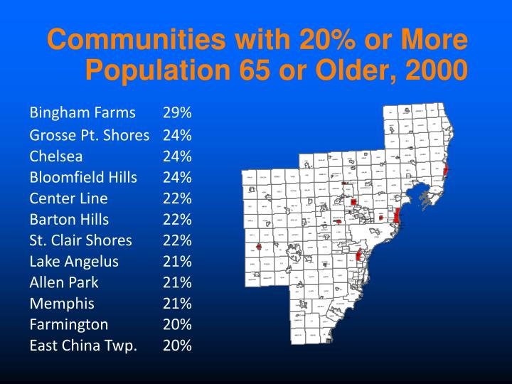 Communities with 20% or More