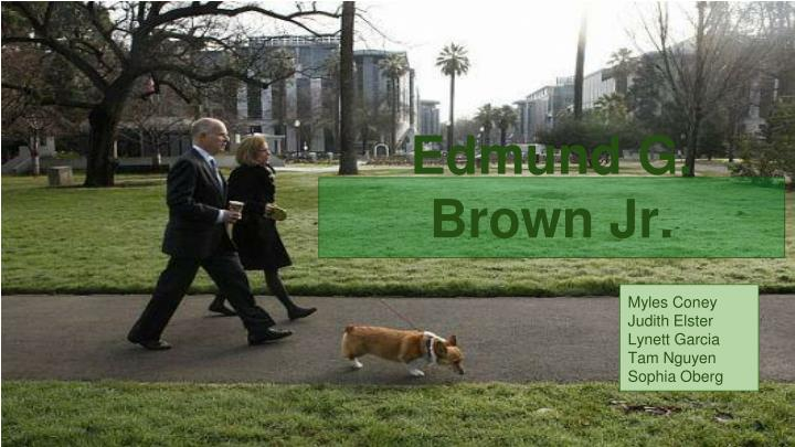 Edmund g brown jr