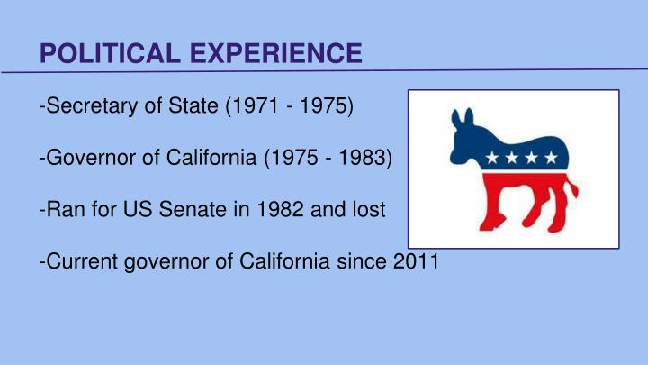 Political experience