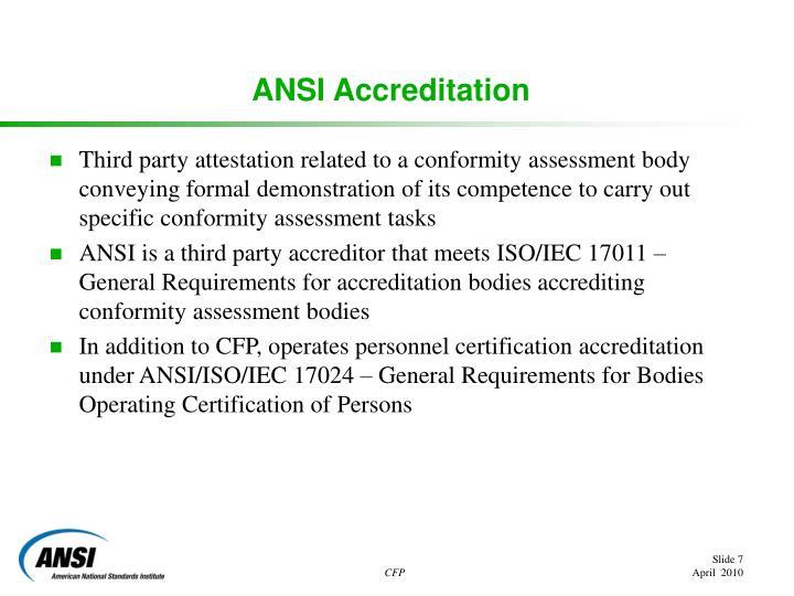 ANSI Accreditation