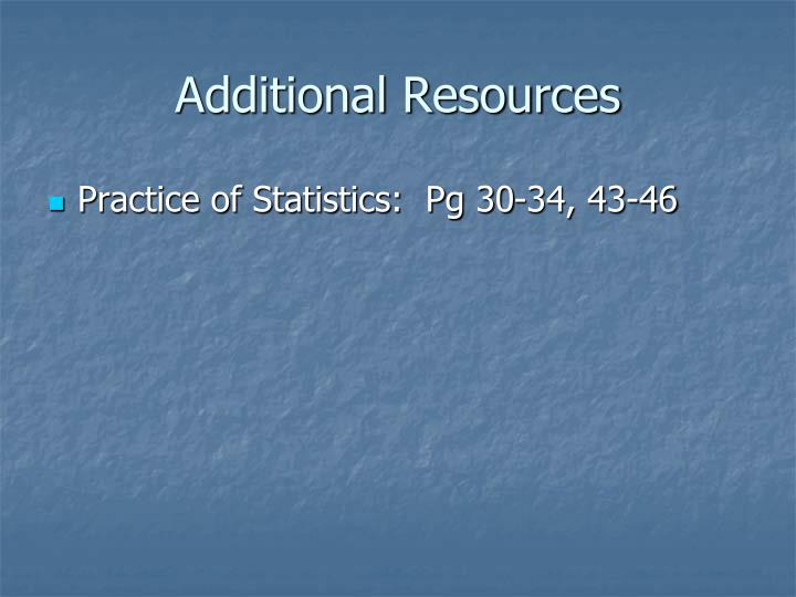 Additional Resources