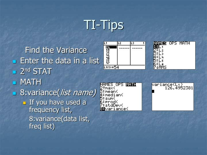 TI-Tips