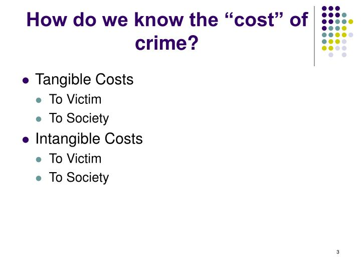 """How do we know the """"cost"""" of crime?"""