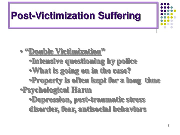 Post-Victimization Suffering