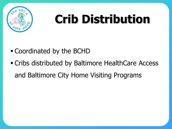 Crib Distribution