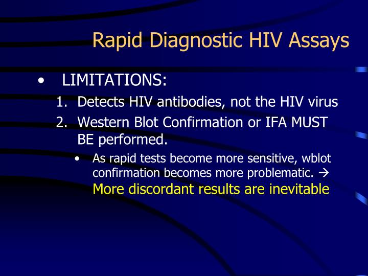 Rapid Diagnostic HIV Assays