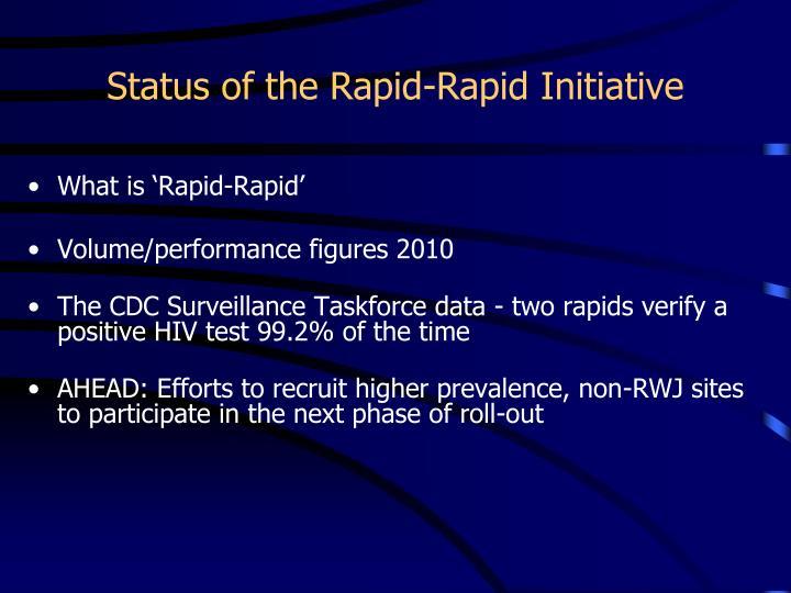Status of the Rapid-Rapid Initiative