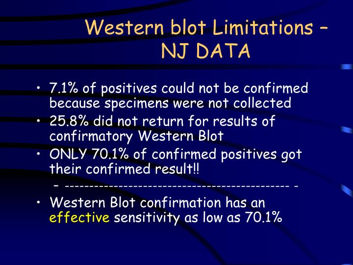 Western blot Limitations – NJ DATA
