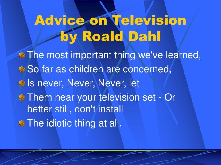 Advice on Television