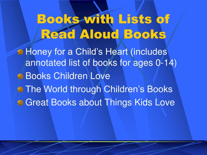 Books with Lists of Read Aloud Books