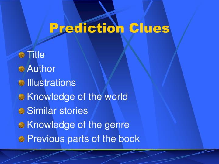 Prediction Clues