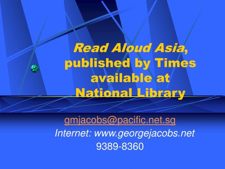 Read Aloud Asia