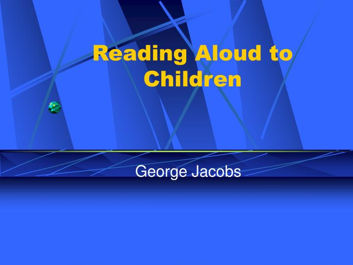 Reading aloud to children