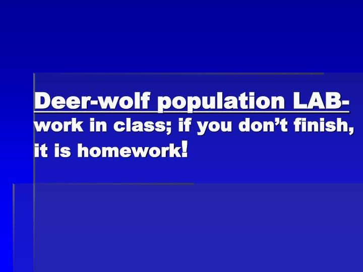 Deer-wolf population LAB-