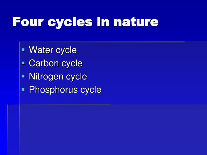 Four cycles in nature