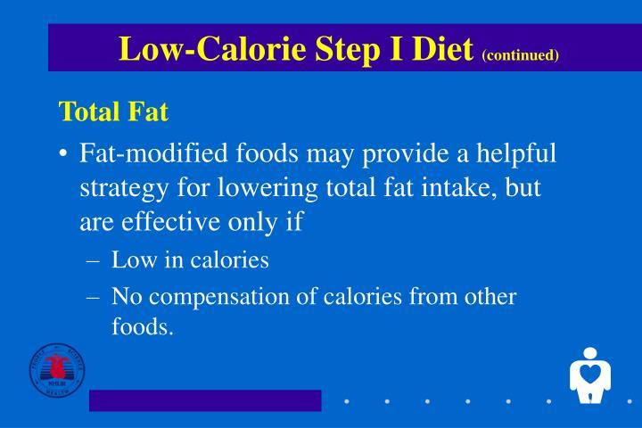 Low-Calorie Step I Diet
